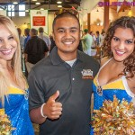 Golden State Warrior dancers at charity event