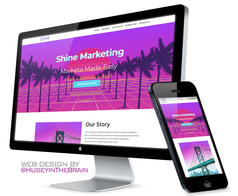 Web design for Shine Marketing