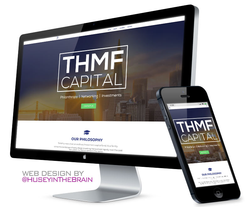 Web design for THMF Capital